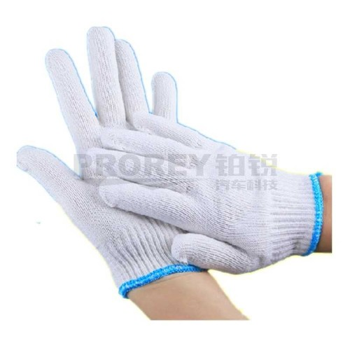 LOCAL 毛纺棉特一级600克(白色蓝边) 线手套