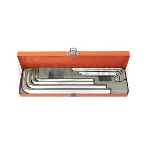 钢盾 S050025 12件套公制加长内六角扳手(铁盒)