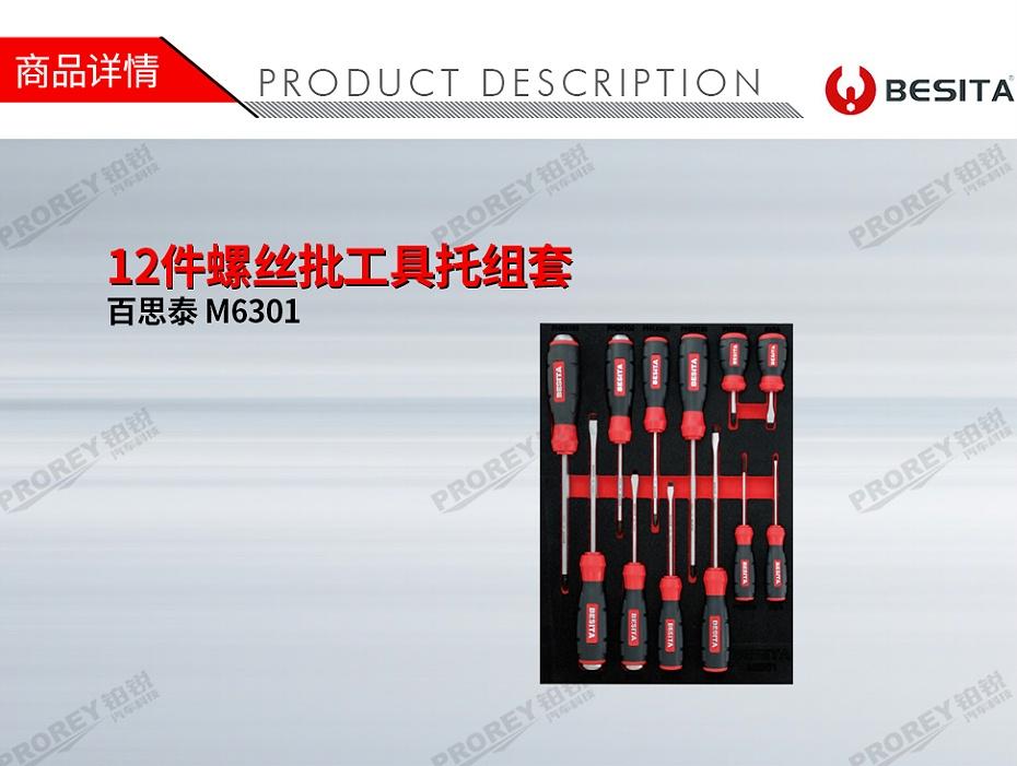 GW-130035478-百思泰 M6301 12件螺丝批工具托组套-1