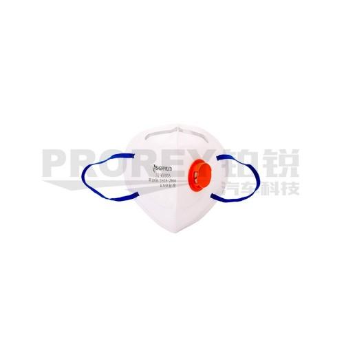 钢盾 S190003 KN95折叠式带阀防护口罩(耳戴式)