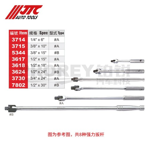 JTC7802 1/2英寸X30英寸 强力扳桿