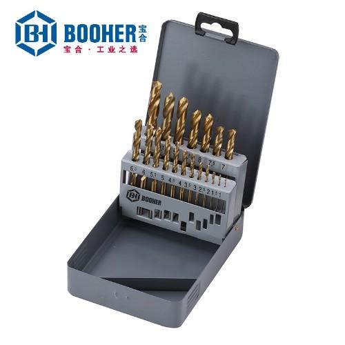 宝合 1400203 19件套高速钢镀钛直柄麻花钻