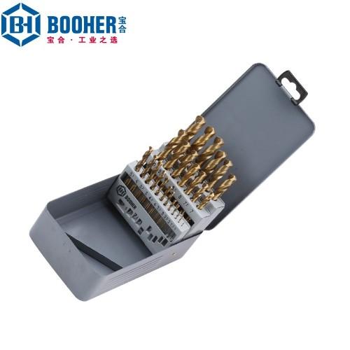 宝合 1400204 25件套高速钢镀钛直柄麻花钻