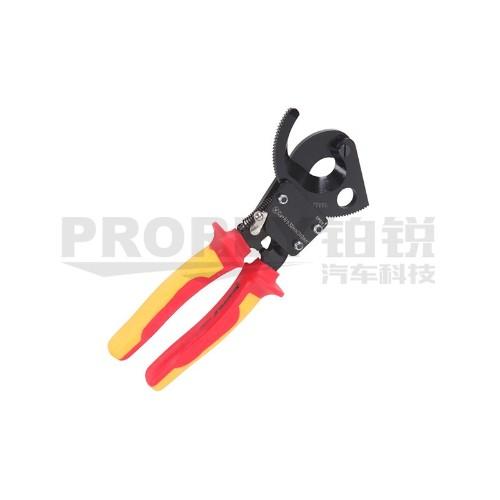 钢盾 S150003 注塑型双色绝缘棘轮式电缆钳剪240mm