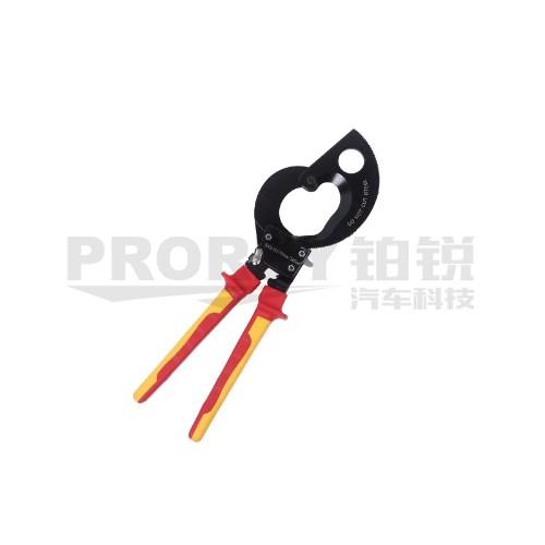 钢盾 S150004 注塑型双色绝缘棘轮式电缆钳剪380mm