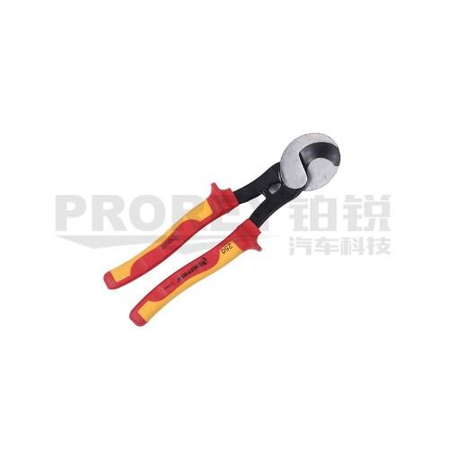 钢盾 S150002 注塑型双色绝缘电缆钳剪250mm