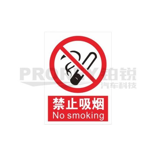禁止吸烟20x30cm 警示标签(PVC/塑料板)