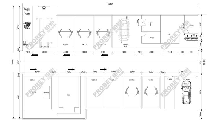 综合维修厂工位规划图