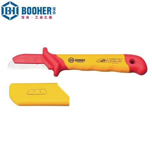 宝合 0229002 双色绝缘护套式直平型电缆刀50x180mm