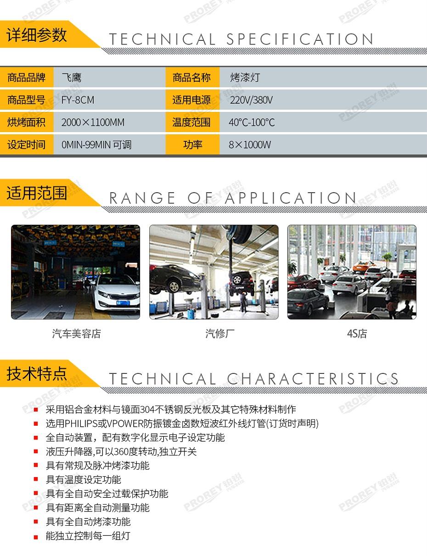 GW-150070050-飞鹰 FY-8CM 烤漆灯-2