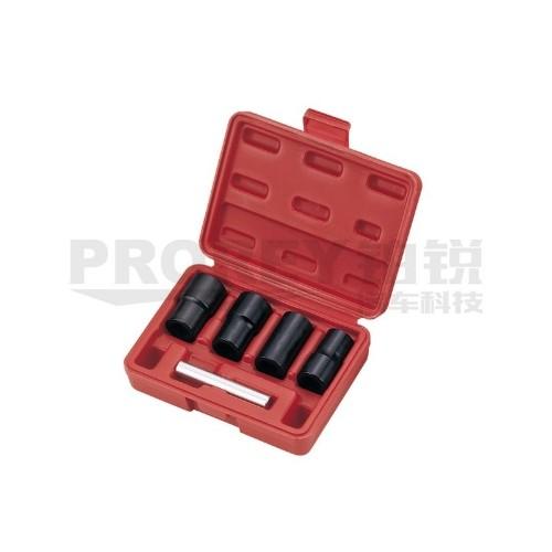 TJG B1337 5PCS 1/2英寸轮胎反牙套筒工具组(螺旋式)