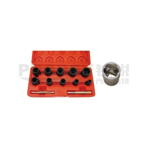 TJG B1342 10PCS 3/8英寸+1/2英寸反牙套筒组