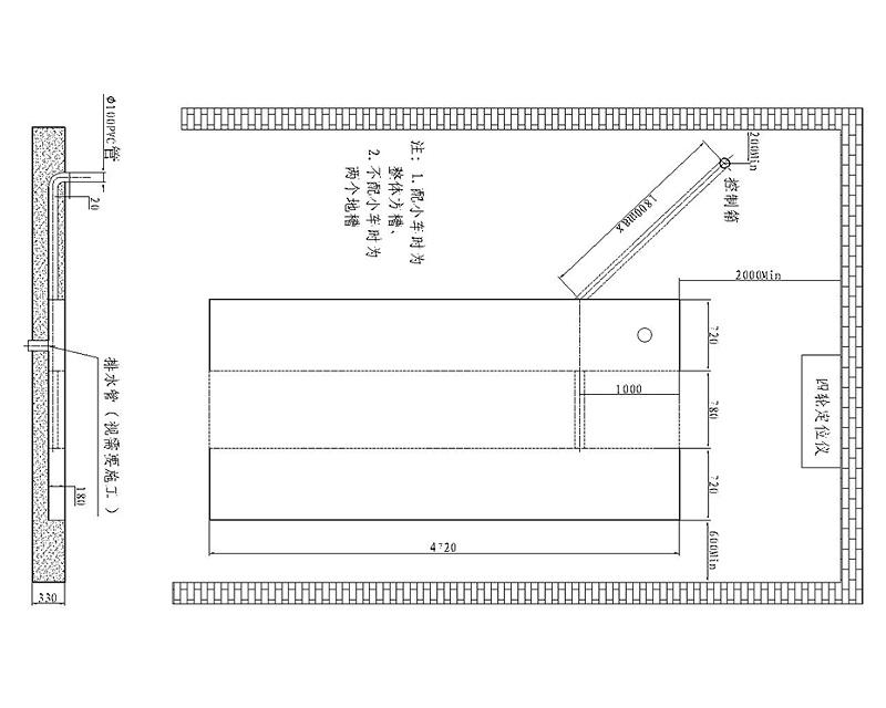 优耐特U-D40B地基图(无上车板)